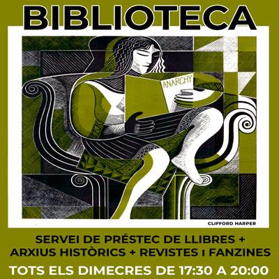 Centre d'Estudis Ramona Berni - CERB [Grup de Memòria Històrica Obrera i Llibertària del Bages] Obrim la biblioteca i els arxius per consultes i préstec cada dimecres de 17:30 a 20:00 hores